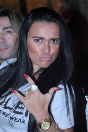 Kamyla Simioni em show em São Paulo (Foto: Leo Franco/ Ag. News)