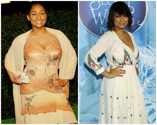 A atriz Raven-Symoné em março de 2004 e em outubro de 2012. (Foto: Getty Images)
