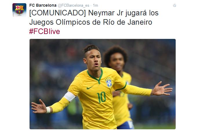 Comunicado Barcelona Neymar (Foto  Reprodução Twitter) d050e18cfb5e8