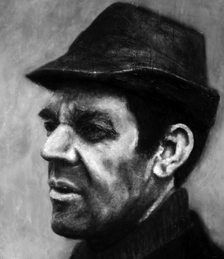 Paul Schmid, pai de Heide, retratado com as próprias cinzas