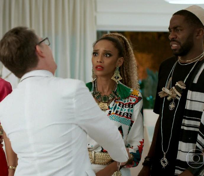 Michele fica surpreendida com Gomes (Foto: TV Globo)