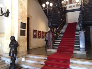 Entrada do Palácio do Catete - Getúlio Vargas (Foto: Marcelo Elizardo/G1)
