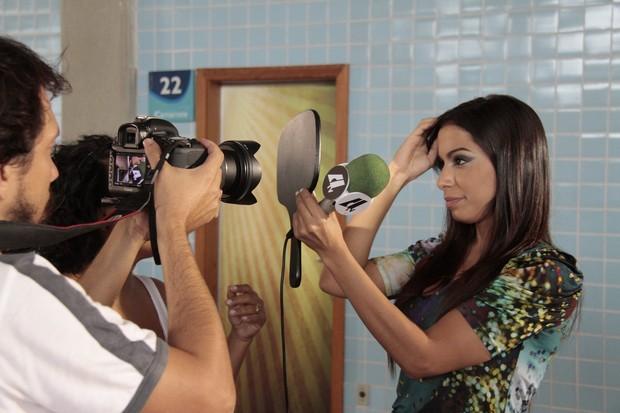 Anitta na copa de elite (Foto: Isac Luz / EGO)