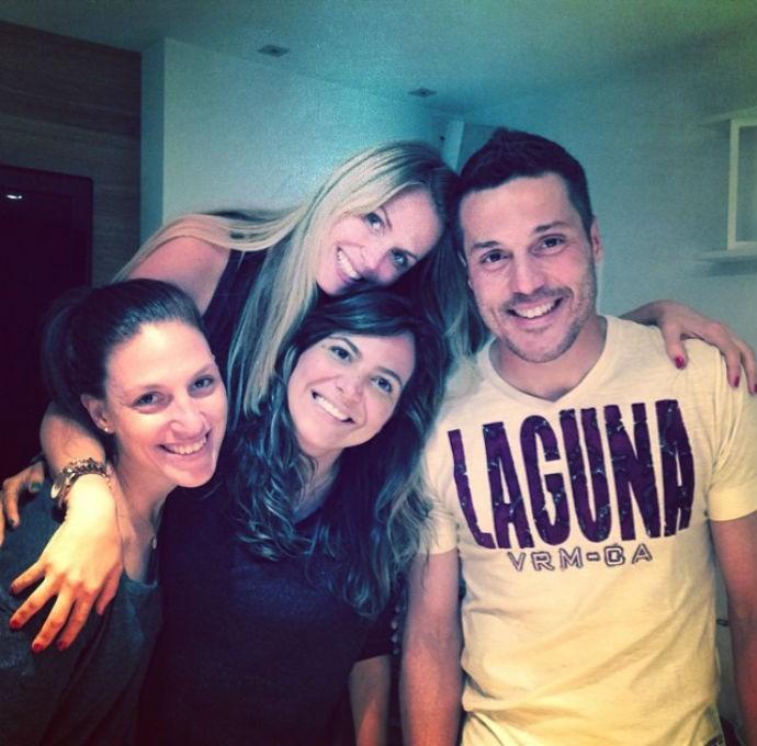 Julio César e Susana Werner com amigos (Foto: Reprodução/Instagram)