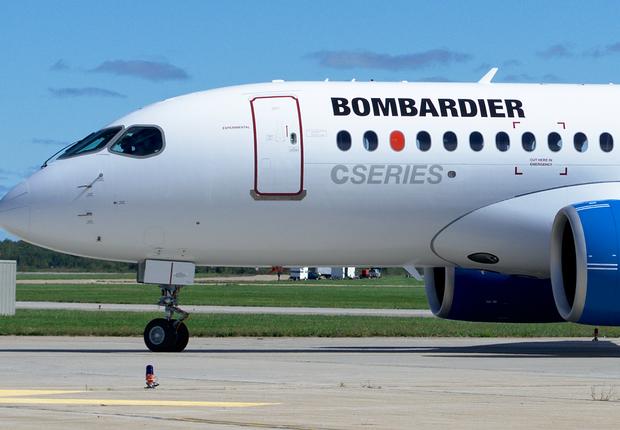 Avião da série C da empresa canadense Bombardier (Foto: Yan Gouger/Wikimedia Commons/Wikipedia)