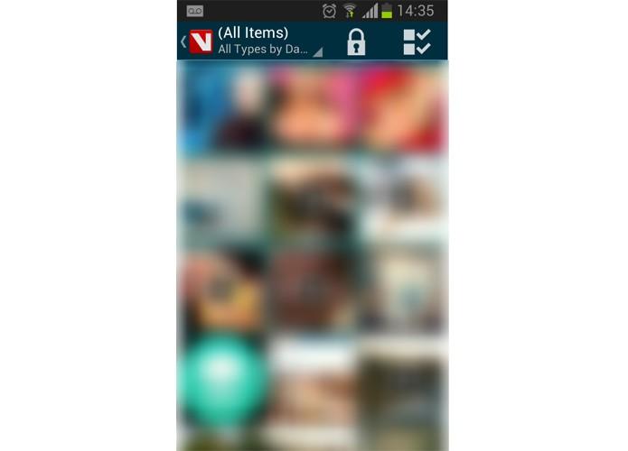 Após configurar a senha, clique no cadeado para começar a esconder suas fotos (Foto: Reprodução/Paulo Alves)