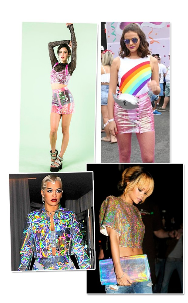 A saia de Bruna é da marca carioca SRI Clothing (Foto: Reprodução )