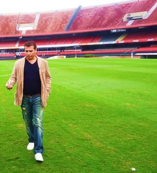 43485a82ec Esporte Espetacular  Luís Roberto entrevista Luizão no quadro Jogos para  Sempre (Foto  Paula