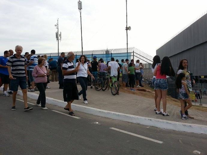 arena corinthians teste público (Foto: Felipe Zito)