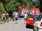 Caminhão de bombeiros se envolve em acidente e ciclista morre em SC