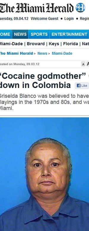 A 'Rainha da coca' da Colômbia, Griselda Blanco, assassinada nesta segunda (3) aos 69 anos  (Foto: Reprodução)
