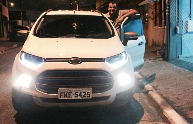 Thiago Costa é dono de um Ford EcoSport (Foto: Arquivo Pessoal)