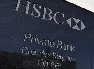 Sede da HSBC na Suíça, na cidade de Genebra (Foto: Harold Cunningham/Getty Images)