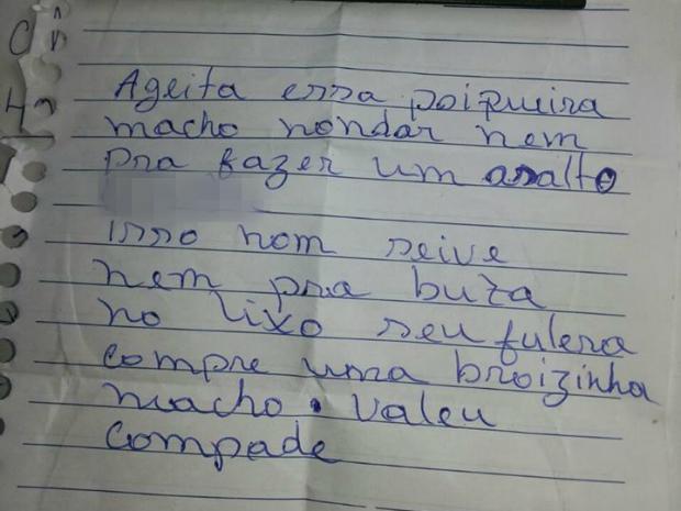 Moto roubada não dava para fazer assalto, diz ladrão (Foto: Polícia Civil/Divulgação)