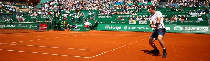 Andy Murray na estreia do Masters 1000 de Monte Carlo (Foto: CLIVE BRUNSKILL / GETTY IMAGES EUROPE / Getty Images/AFP)