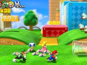 Até quatro jogadores podem se unir para enfrentar os desafios de 'Super Mario 3D World' (Foto: Divulgação/Nintendo)
