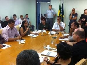 Sindicatos amapá reunião governo do amapá (Foto: Divulgação/Decom/Alap)