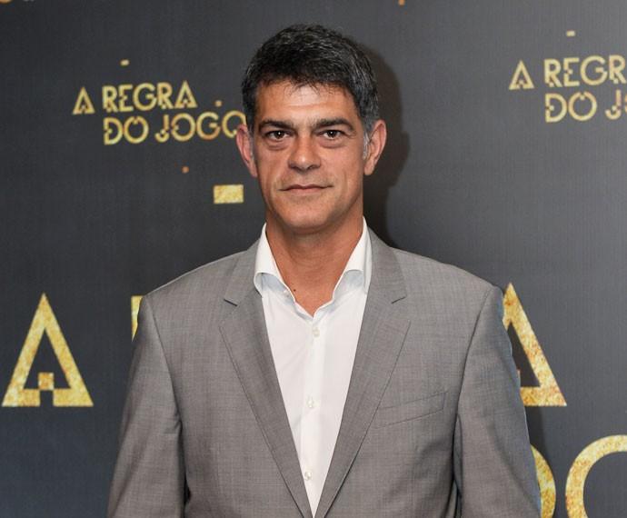 Eduardo Moscovis na festa de lançamento de 'A Regra do Jogo' (Foto: Globo / Ramon Vasconcelos)
