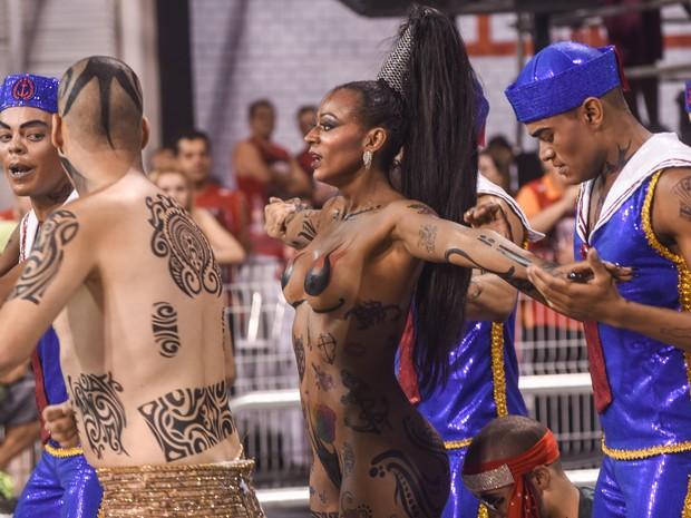 Elaine de Abreu esbanja charme no Anhembi (Foto: Flavio Moraes/G1)
