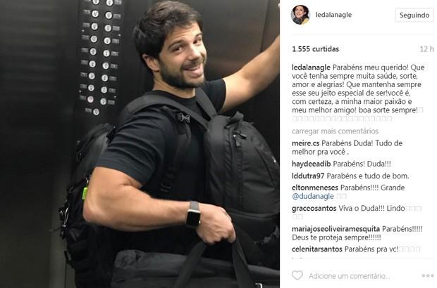 Leda Nagle parabeniza Duda Nagle pelos 34 anos (Foto: Reprodução/Instagram)
