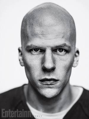 Jesse Eisenberg caracterizado como Lex Luthor, vilão de Superman (Foto: Reprodução/Entertainment Weekly)