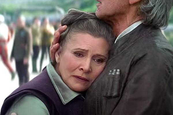 Carrie Fisher em 'Star Wars: O Despertar da Força' (Foto: Reprodução)