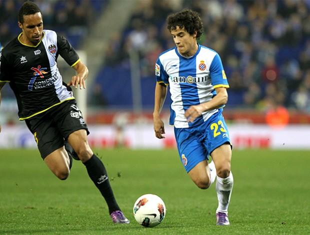 Philippe Coutinho na partida do Espanyol (Foto: Divulgação / Site Oficial)