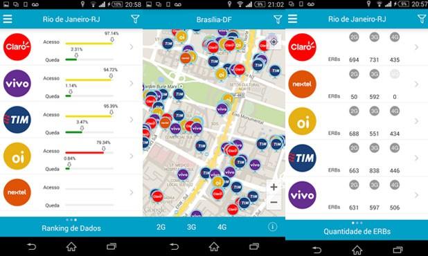 Aplicativo da Anatel 'Serviço Móvel' mostra a qualidade do sinal da internet e da voz. (Foto: Divulgação/Anatel)