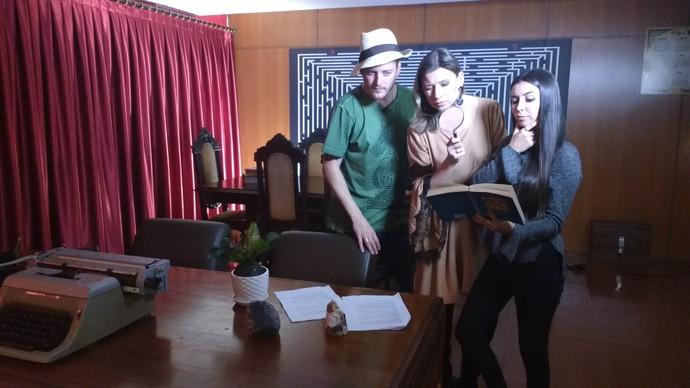 Camille, Thalita e Guilherme vão decifrar enigmas no Mistura deste sábado (3) (Foto: RBS TV/Divulgação )