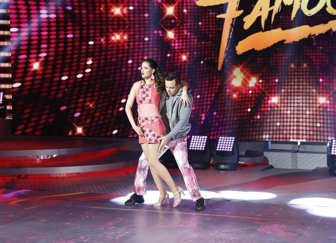Agatha Moreira dança ao lado do coreógrafo Leandro Azevedo (Foto: Ellen Soares/Gshow)