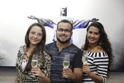 Yasmin, Leandro e Thais