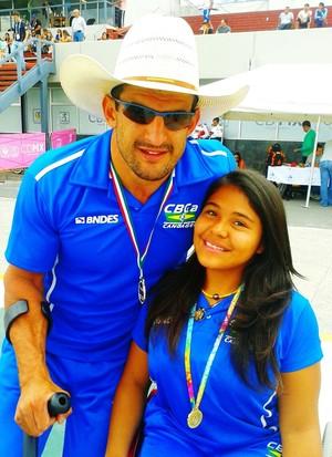 Fernando Rufino e Debora Benevides, atletas da paracanoagem brasileira (Foto: Arquivo pessoal/Debora Benevides)