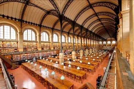 Foto (Foto: Foto: http://en.wikipedia.org/wiki/File:Salle_de_lecture_Bibliotheque_Sainte-Genevieve_n01.jpg)