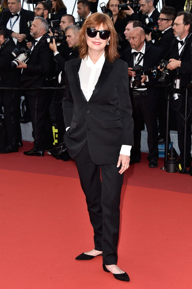Susan Sarandon na abertura do Festival de Cannes (Foto: Getty Images)