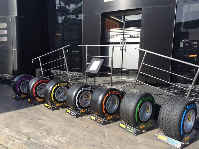 Pneus Pirelli 2016 (Foto: GloboEsporte.com)