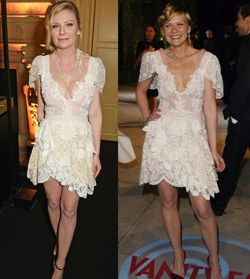 Kirsten Dunst em 2017 e 2004 (Foto: Getty Images)