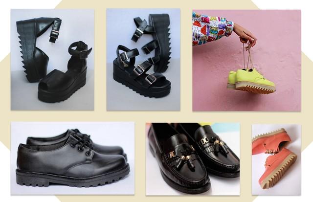 Sapatos Yellow Factory (Foto: Reprodução)