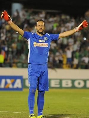 Leandro Santos, goleiro Guarani (Foto: Israel de Oliveira/ Divulgação Guarani)
