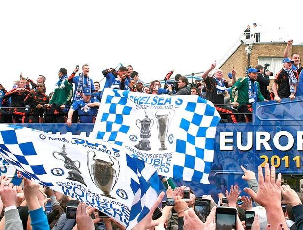 comemoração do Chelsea pelo título da Liga dos Campeões (Foto: AP)