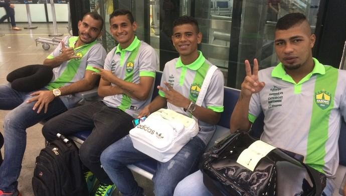 Cuiabá embarca para Campo Grande (Foto: Pedro Lima/Cuiabá Esporte Clube)