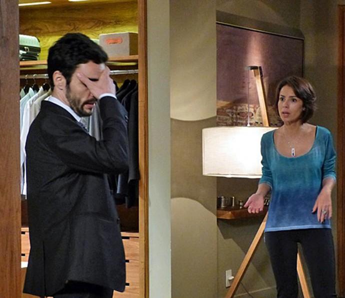 Os atores em cena de 'Império' como os irmãos José Pedro e Maria Clara (Foto: TV Globo)