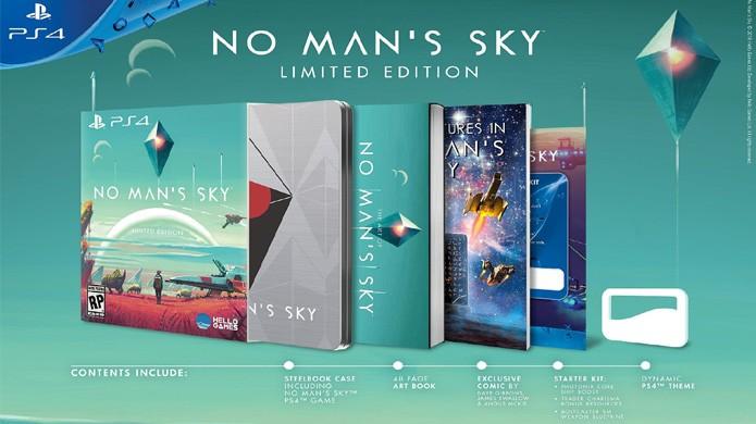 Edição limitada de No Mans Sky traz o jogo com livro de artes e história em quadrinhos (Foto: Reprodução/Amazon)