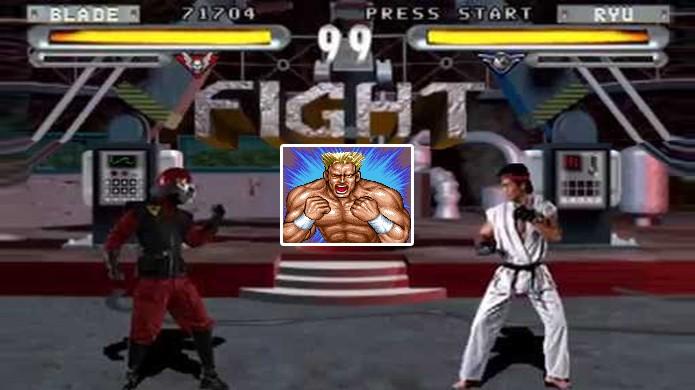 No jogo Street Fighter: The Movie, o lutador Blade revela ser Gunloc e também irmão de Guile (Foto: Reprodução/YouTube)
