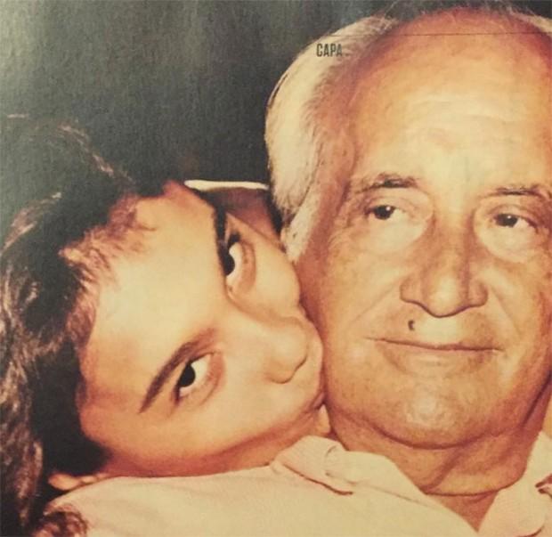 Dira Paes com o pai (Foto: Reprodução / Instagram)