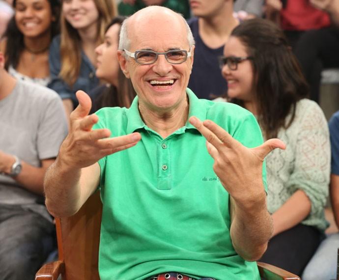 Marcos Caruso participa da gravação do programa Altas Horas (Foto: Carol Caminha/Gshow)