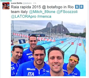 twitter luca dotto desafio raia rápida piscina 2015 (Foto: Reprodução/Twitter)