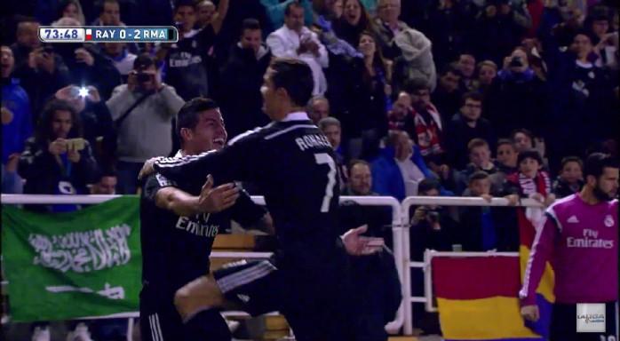 James Rodríguez gol Real Madrid Rayo Vallecano