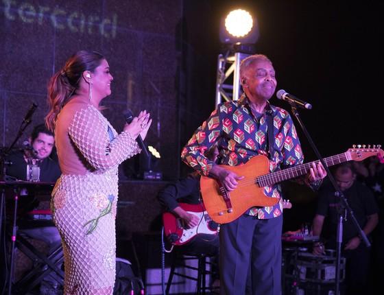 Preta e Gil cantaram juntos em show inesquecível (Foto: Felipe Panfili)