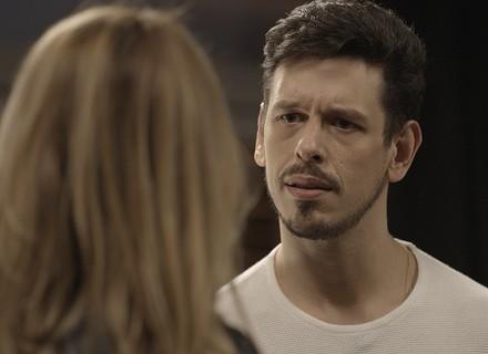 Diana dá fora em Lázaro e diz que vai ficar com Léo Régis