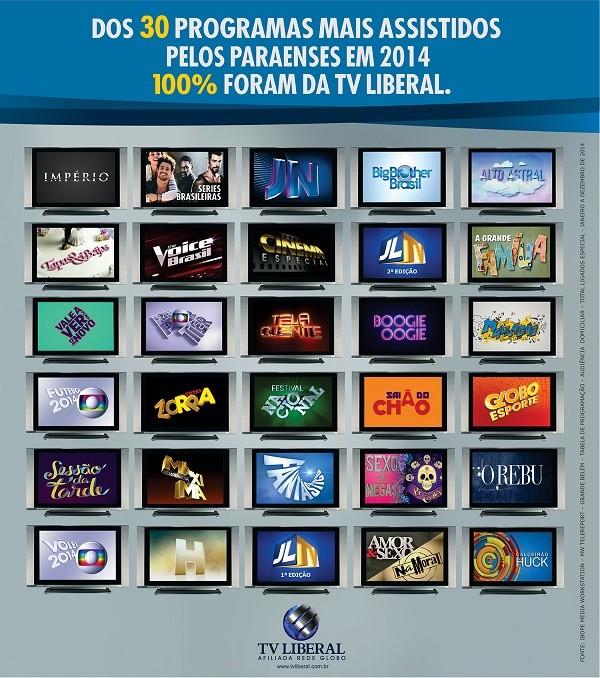 Rede Globo Tv Liberal Programacao Da Tv Liberal Foi A Preferida Do Paraense Em 2014